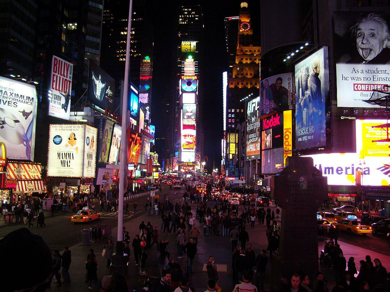New York, City Lights, Times Square