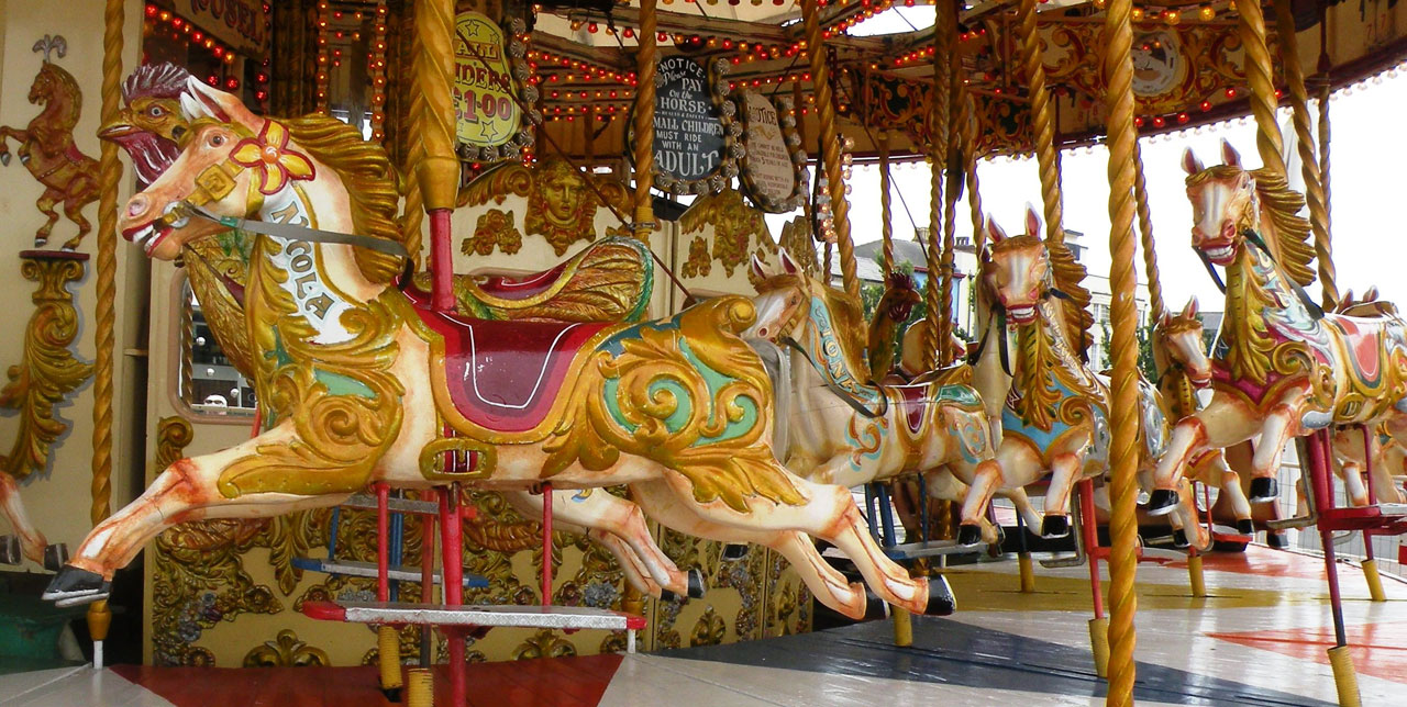 Merry-Go-Round, Carousels, Amusement Rides