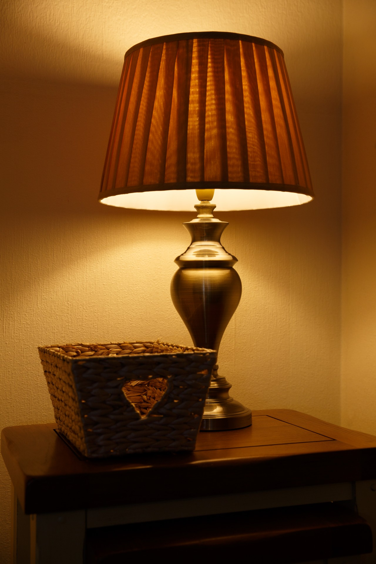 Lit Table Lamp Free Stock Photo Public Domain Pictures
