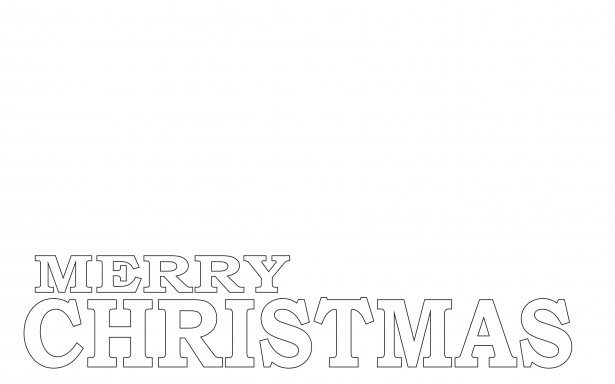 Merry Christmas Coloring Page Free Stock Photo Public