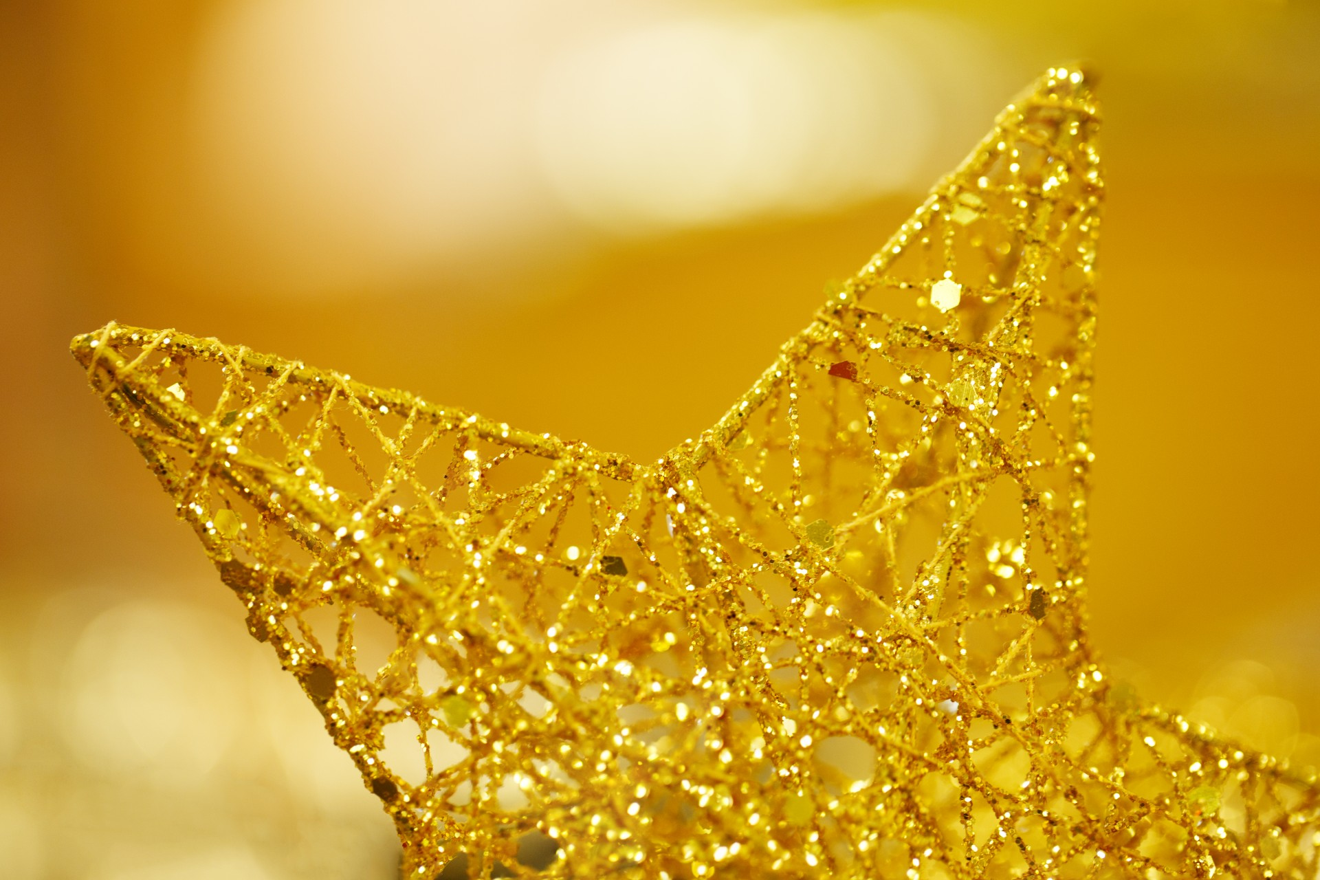 Christmas Lights Gold