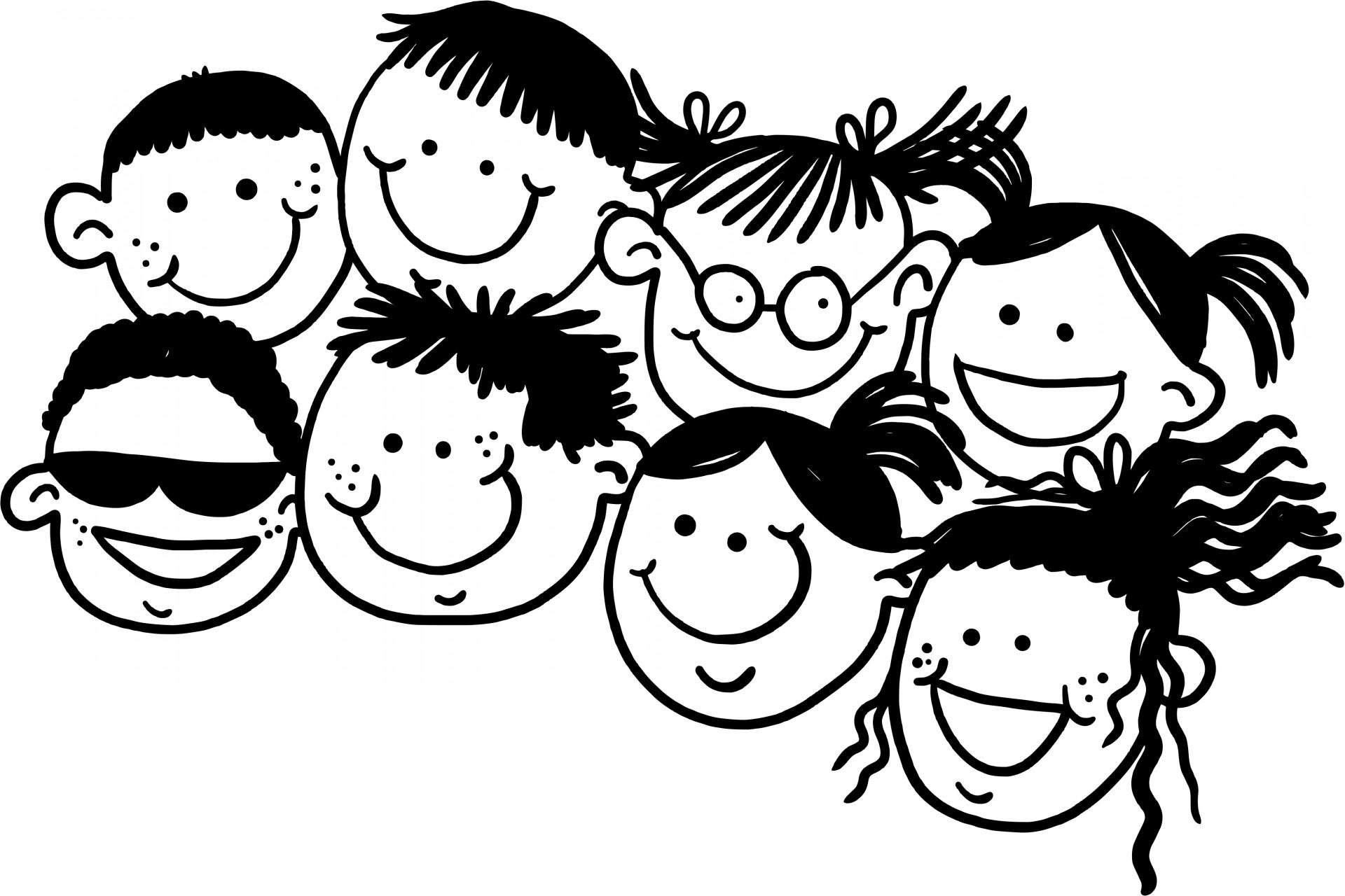 Doodle Kids Free Stock Photo
