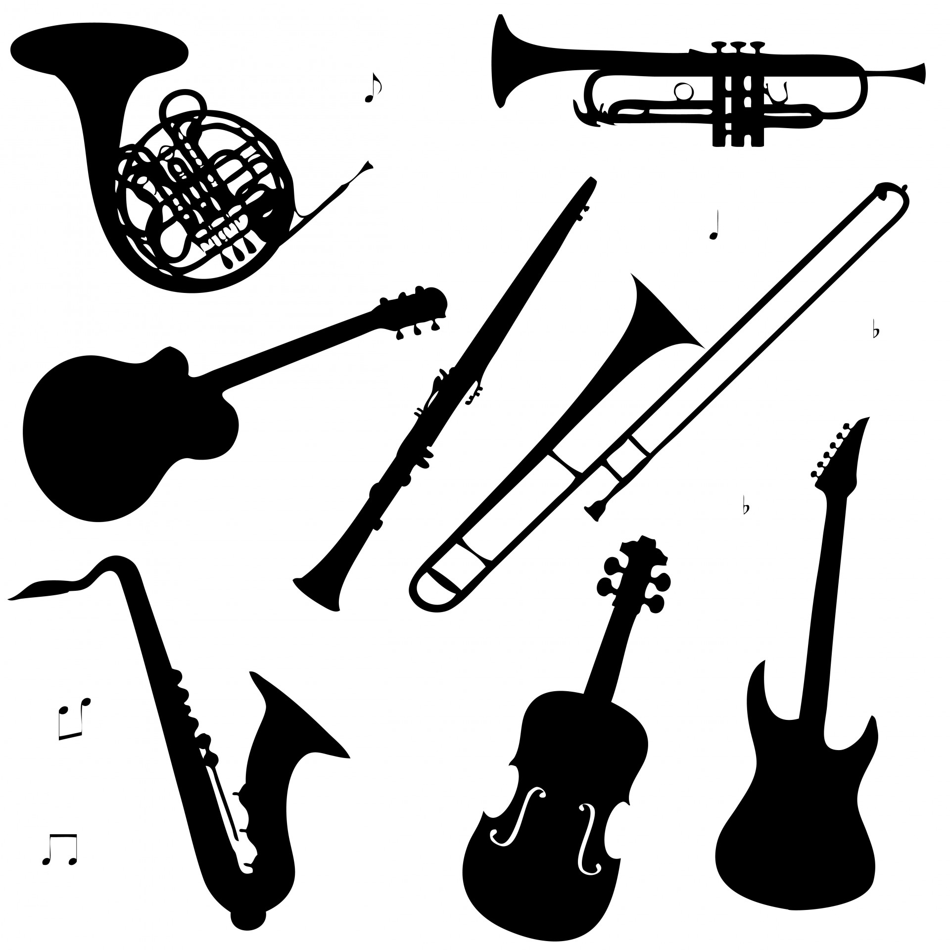 Musical Instruments Clipart Free Stock Photo