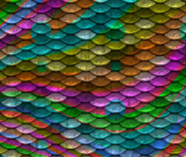 Scales Background Rainbow Colors