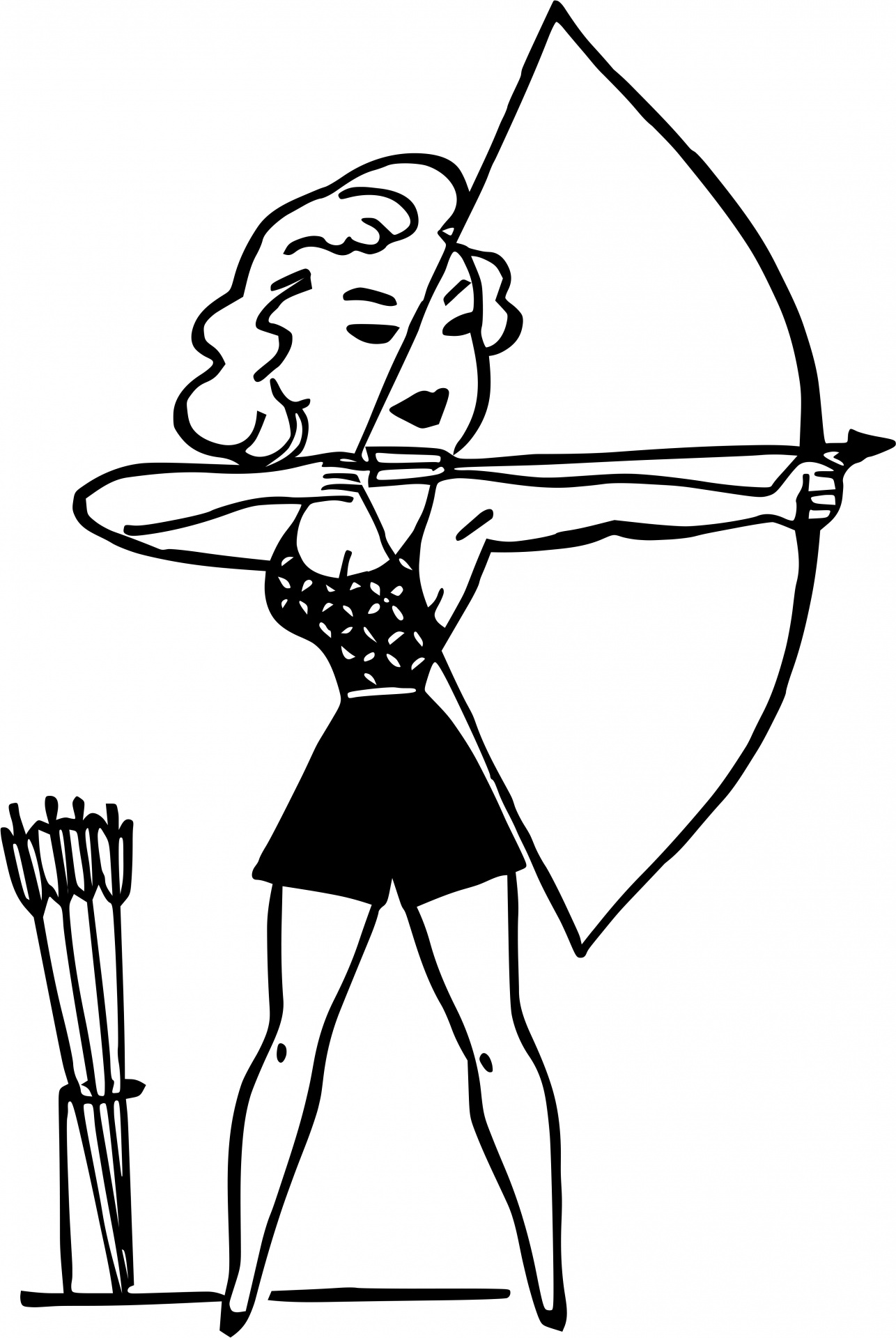 Archery Woman Free Stock Photo