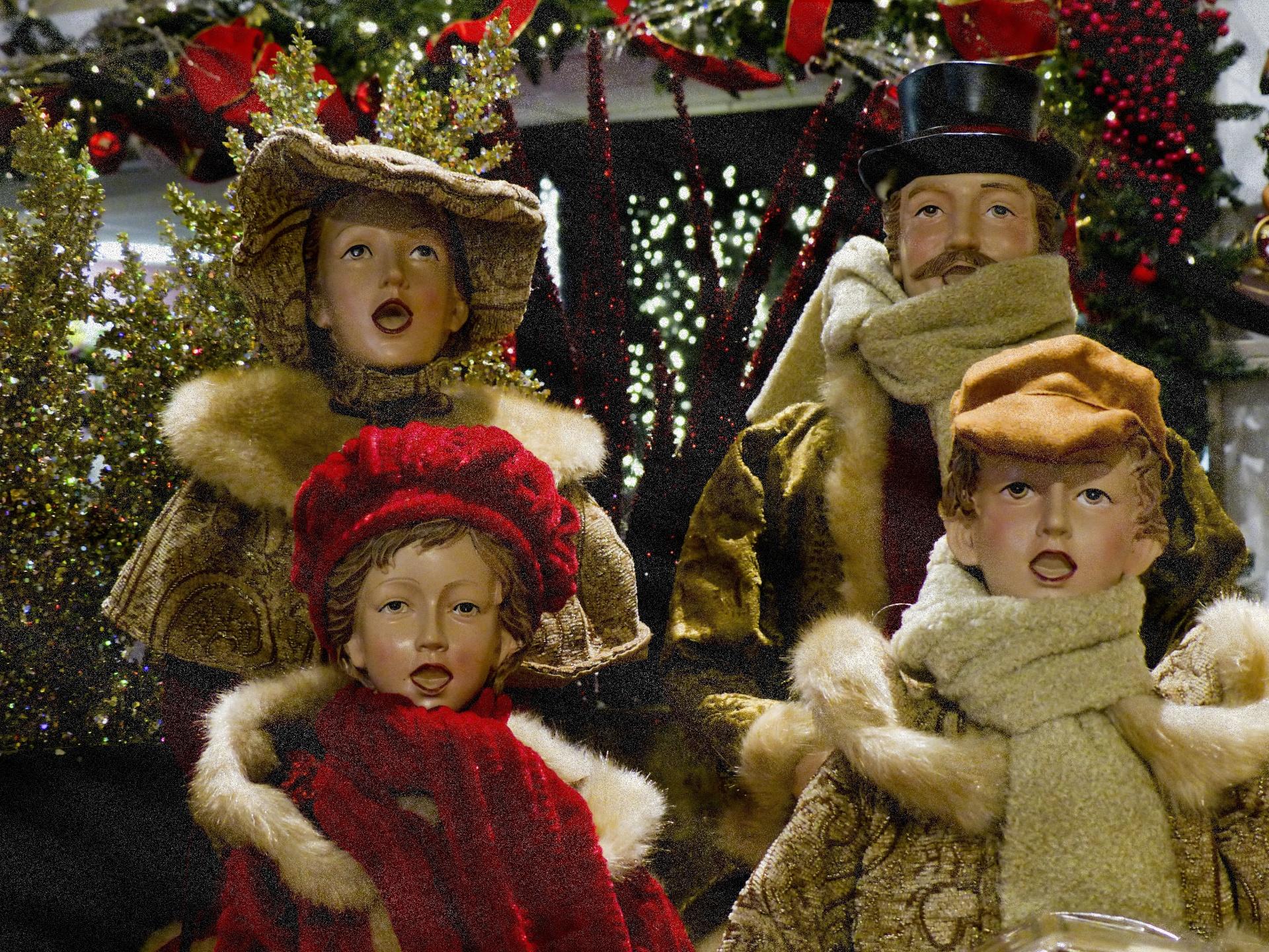Christmas, Caroling, Singing, Christmas Caroling