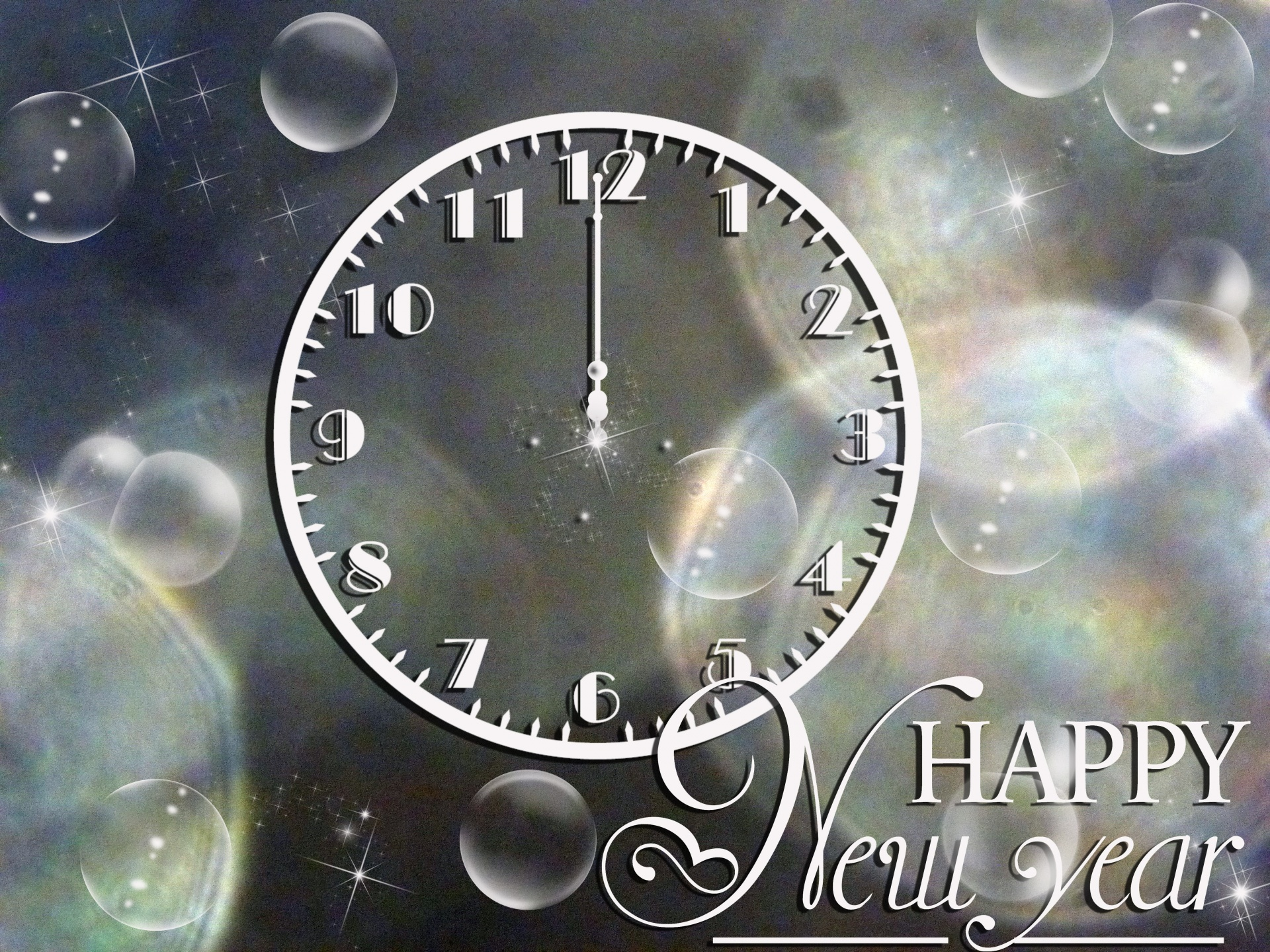 Happy New Year Clock Free Stock Photo Public Domain Pictures
