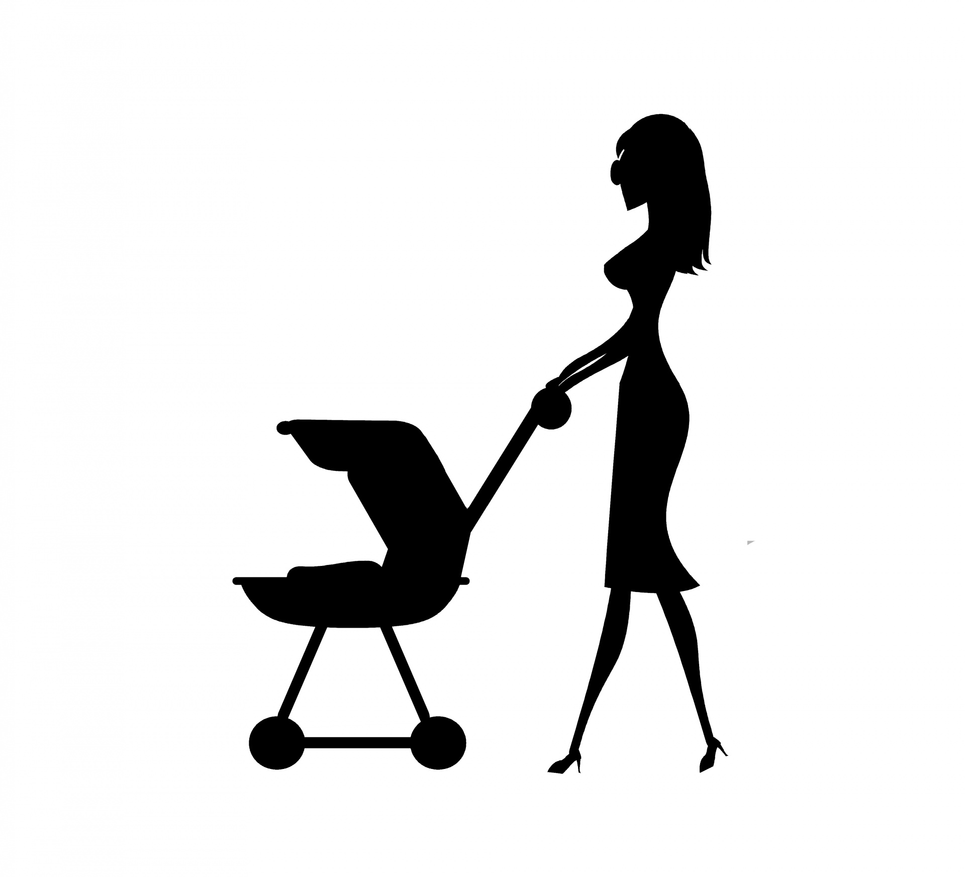 Mommy And Stroller Free Stock Photo
