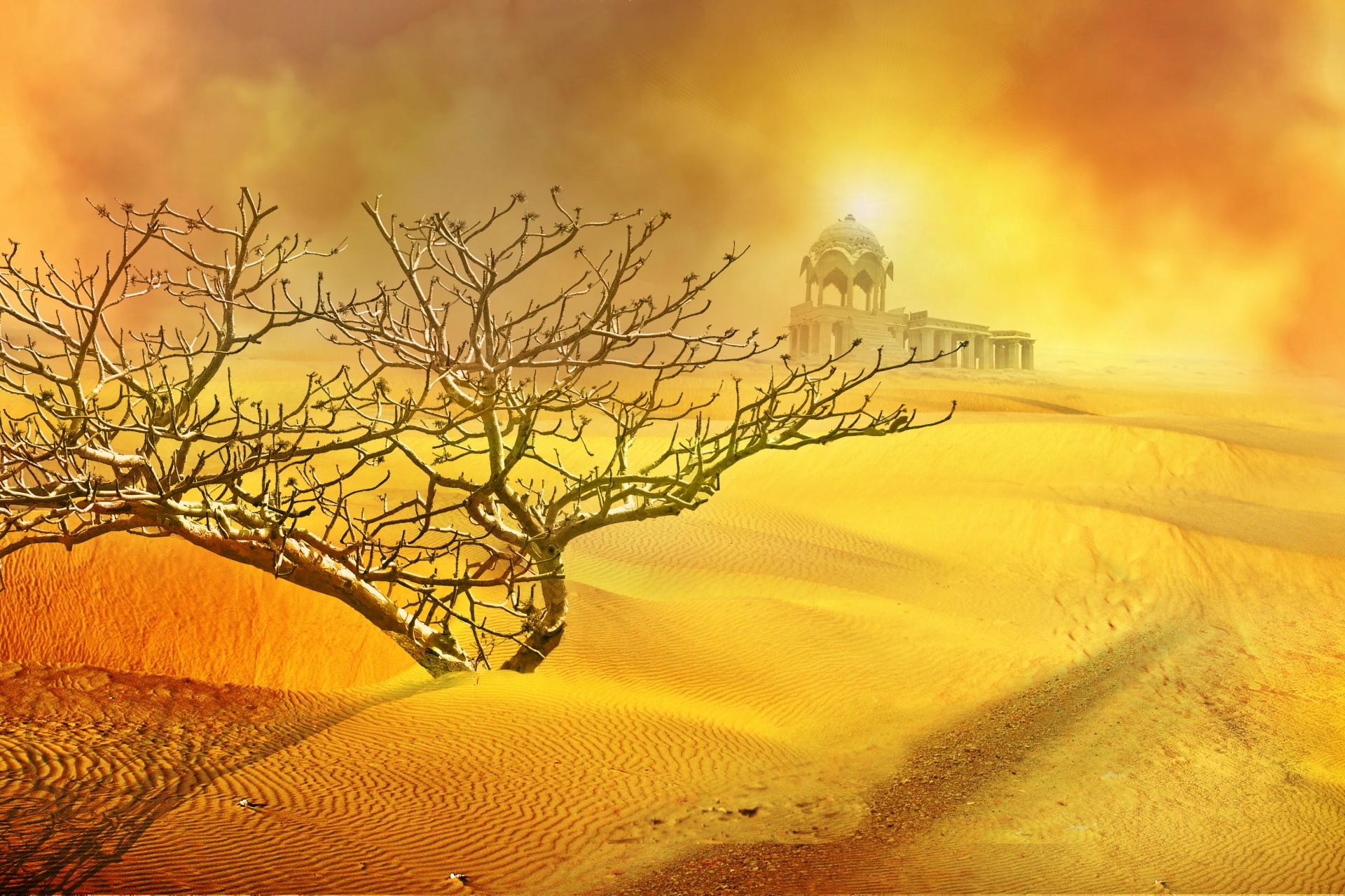 Temple In The Desert