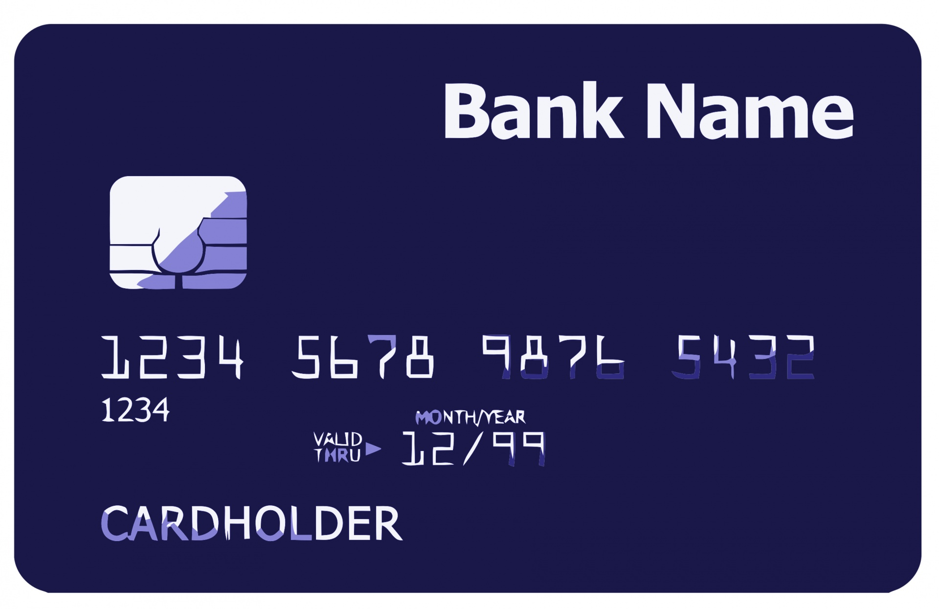 Credit Card Front Free Stock Photo