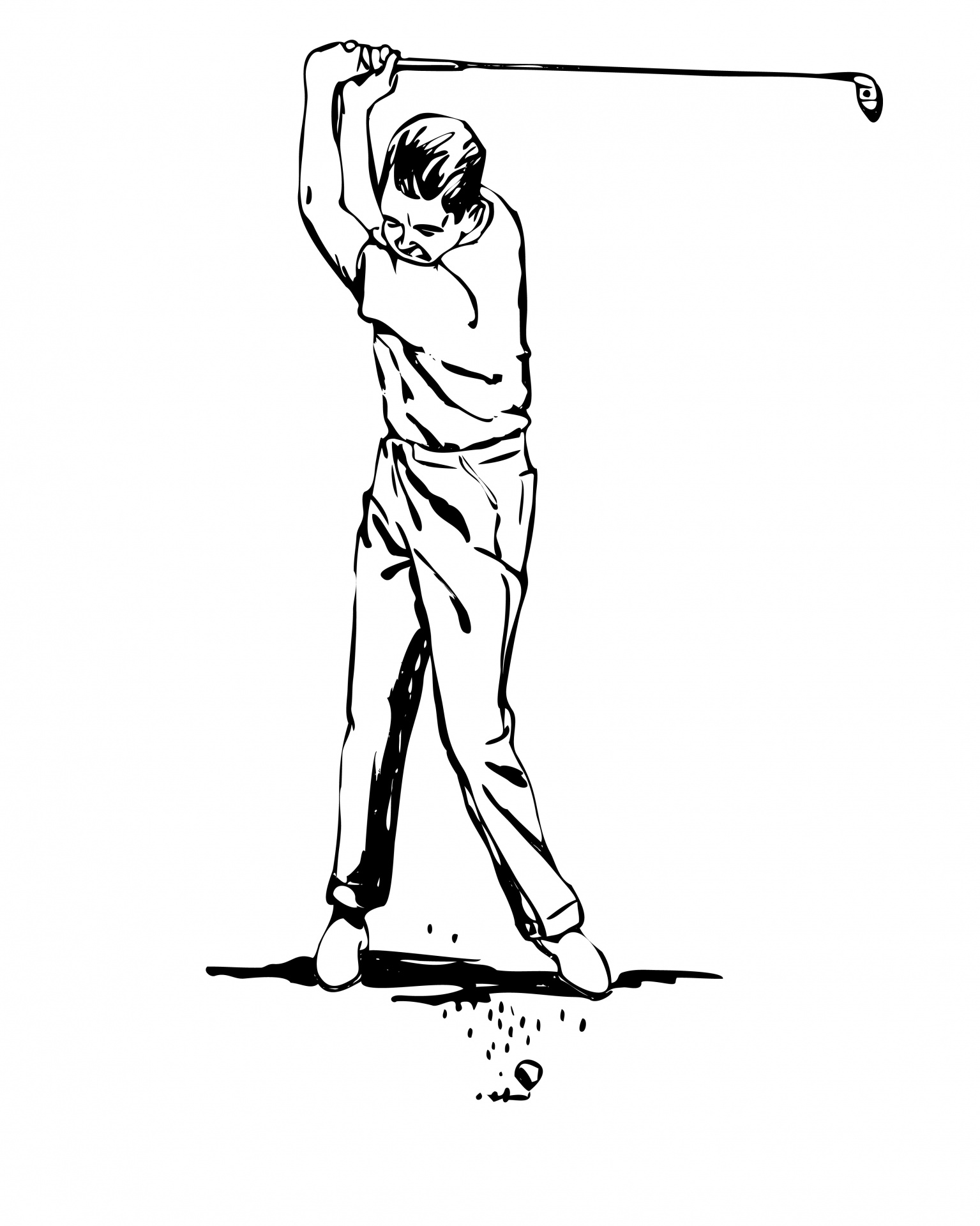 Golfer Clipart Free Stock Photo