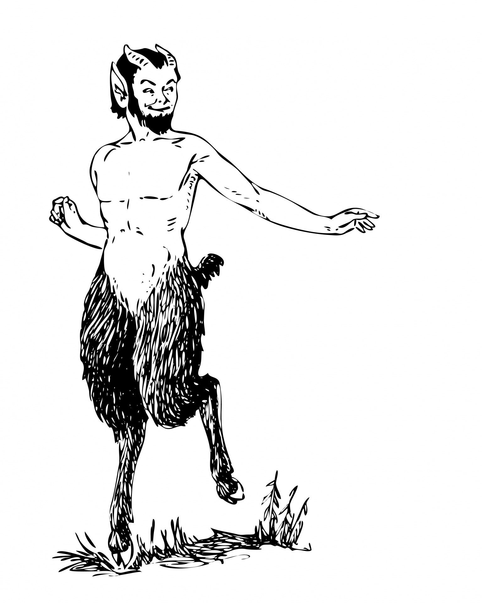 Mythical Faun Clipart Free Stock Photo