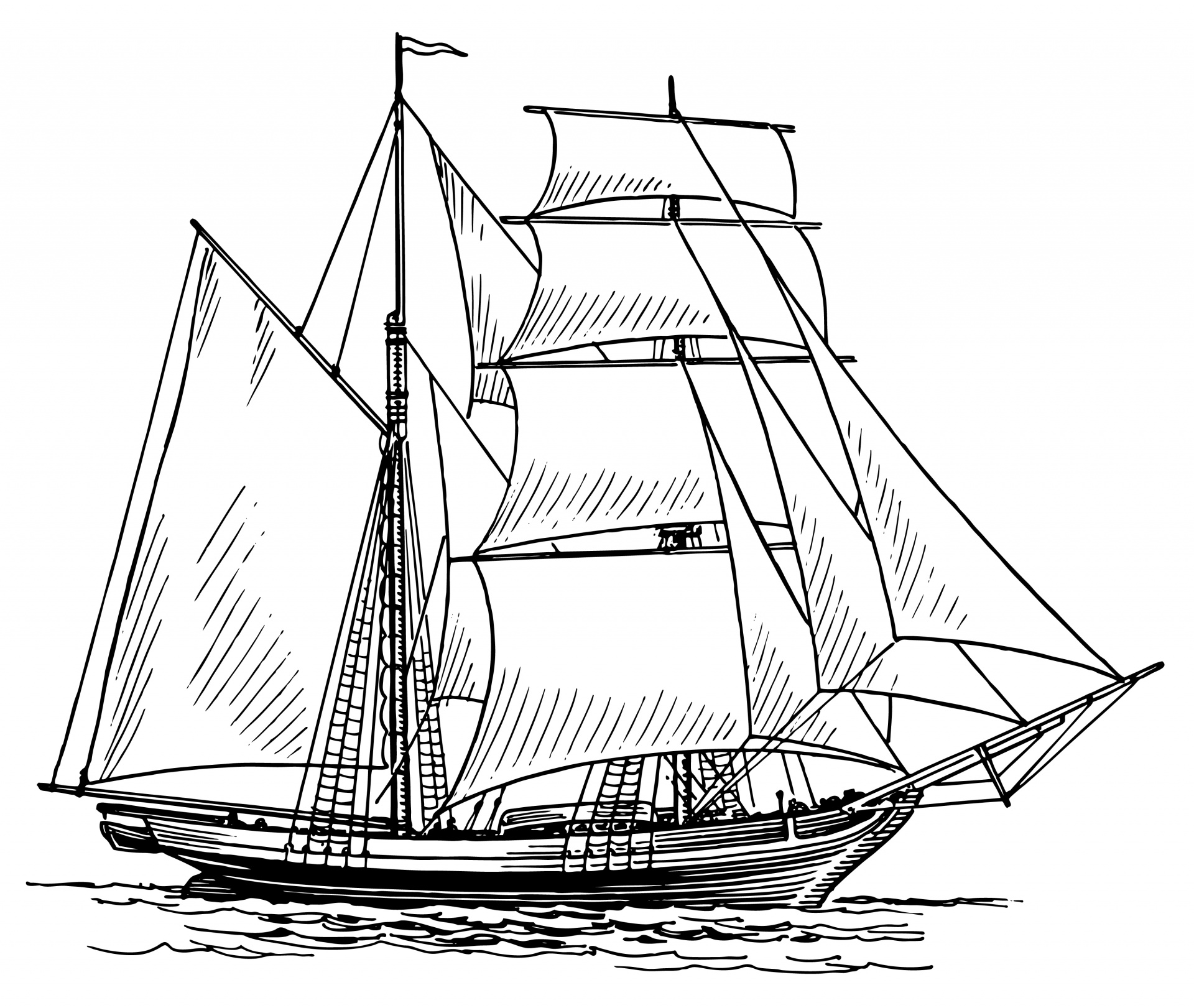 Sailing Ship Clipart Illustration Free Stock Photo