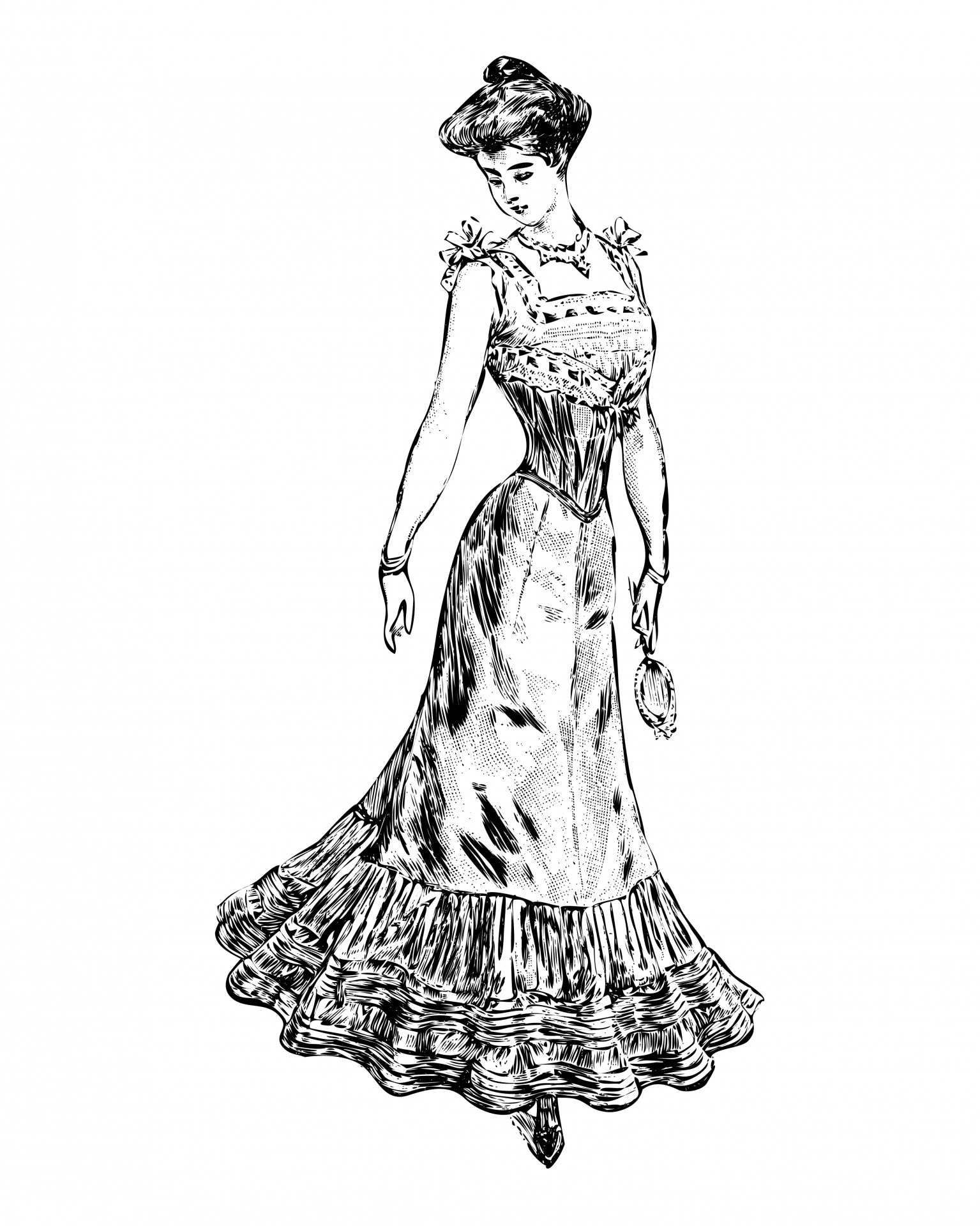 Victorian Woman Clipart Free Stock Photo
