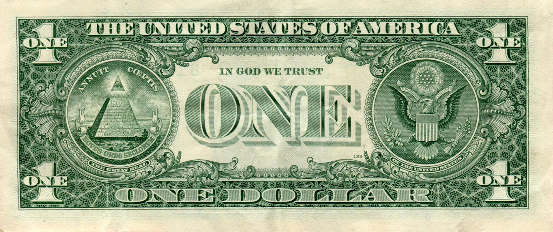One Dollar Bill Free Stock Photo