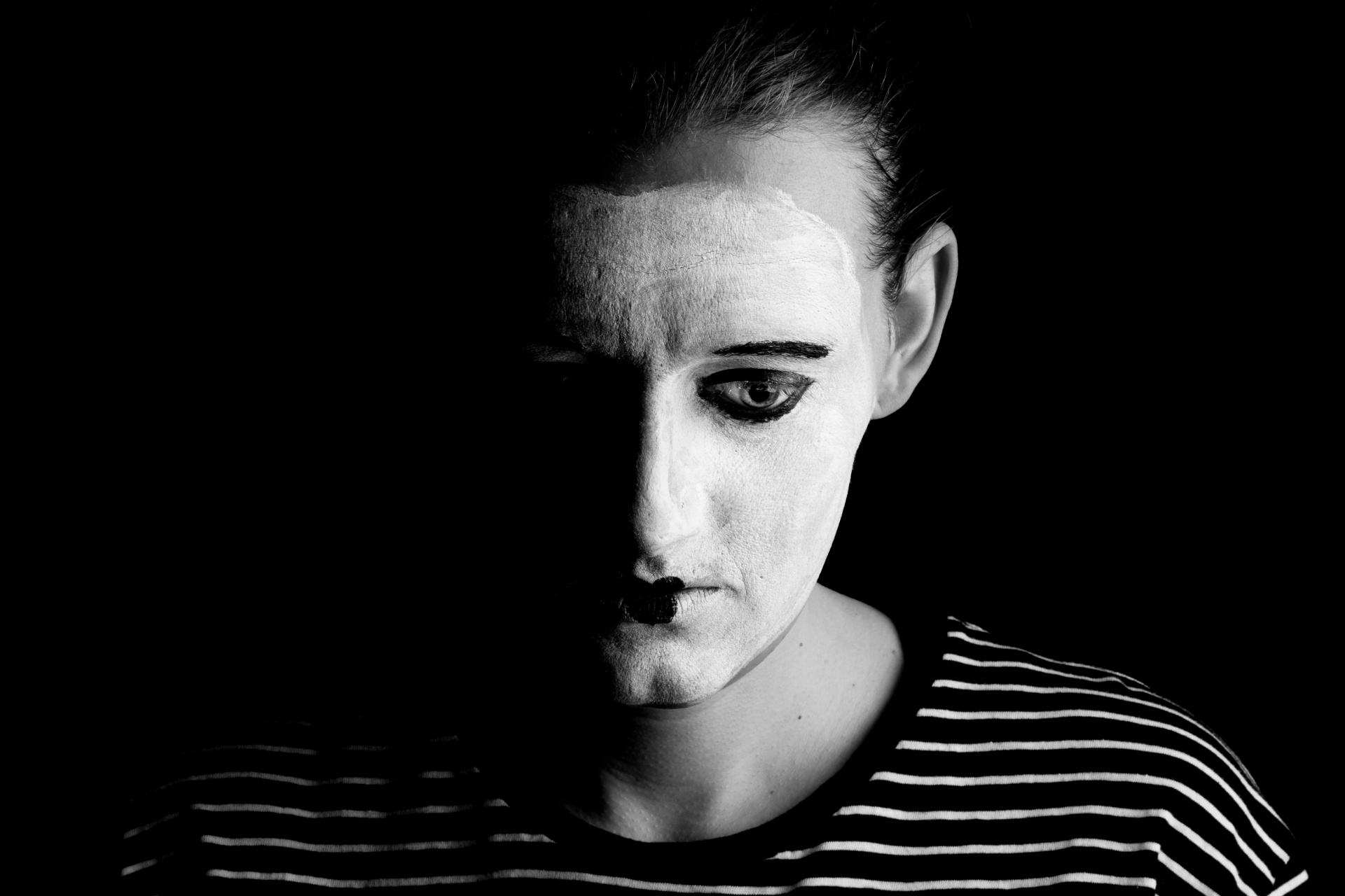 Sad Mime Free Stock Photo Public Domain Pictures
