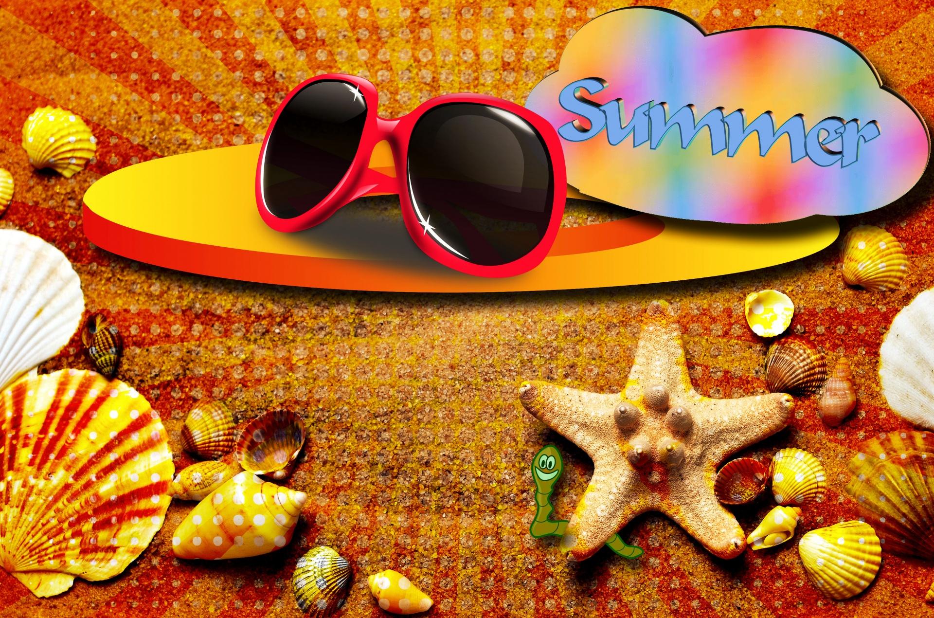 summer, heat, sun