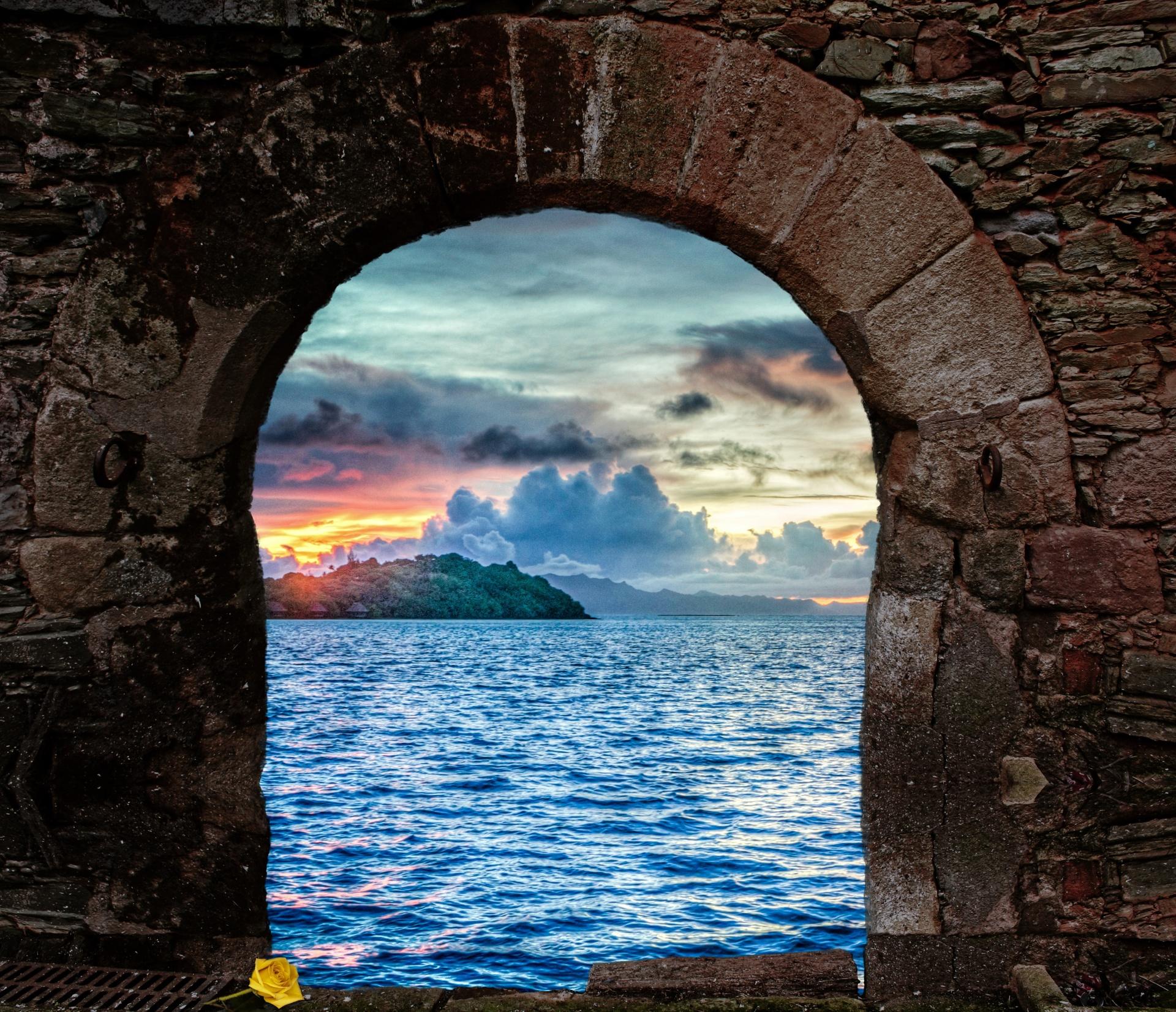 portal, adventure, seascape