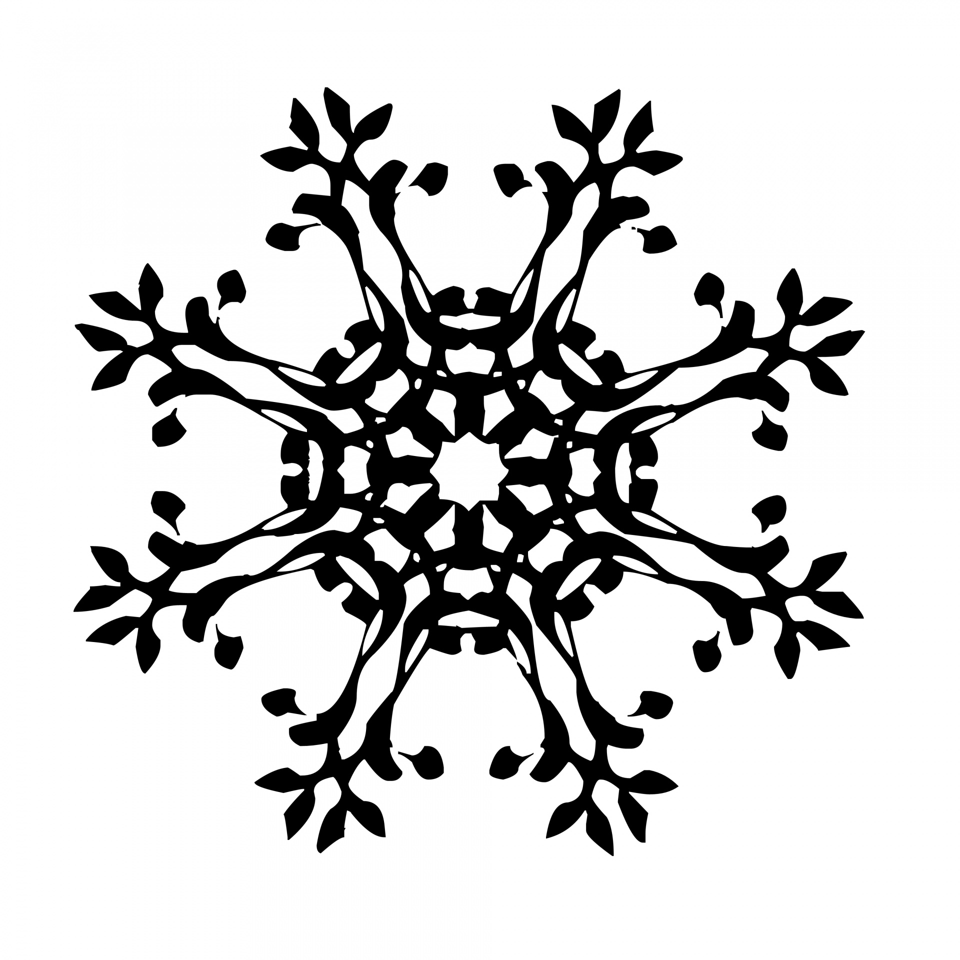 Black Snowflake Free Stock Photo