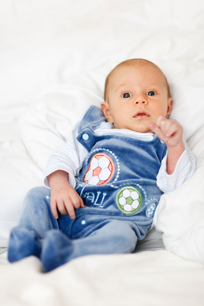 Bebé jugador de fútbol