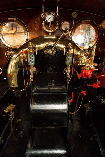 Inside The Cab Of A Steam Engine Free Stock Photo Public