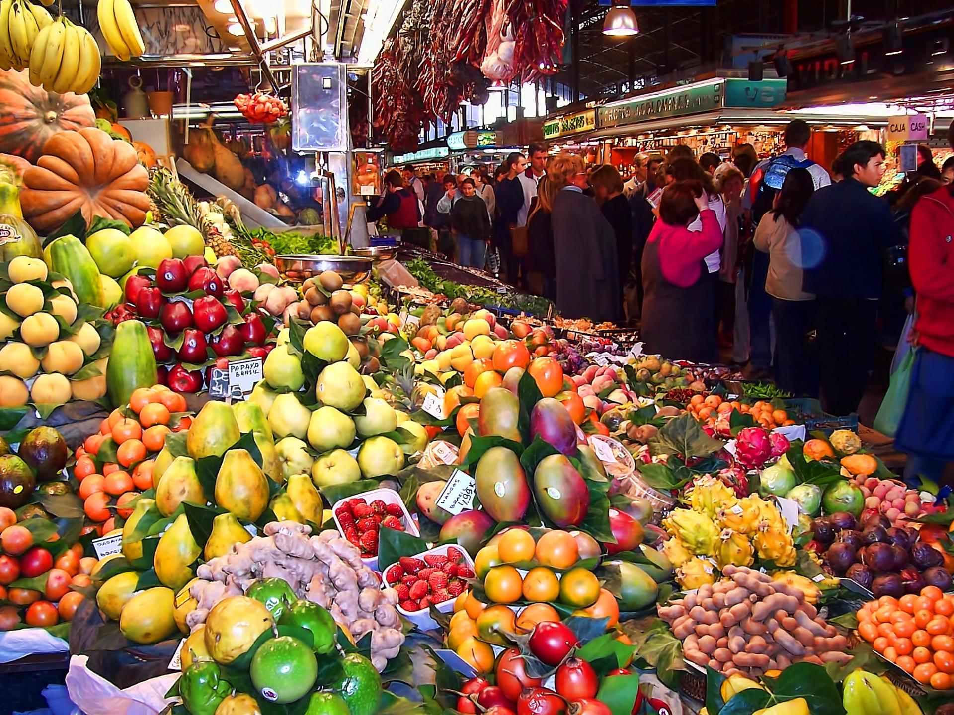 National Fresh Fruit and Vegetables Month, Farmers Market, Fruits, Vegetables