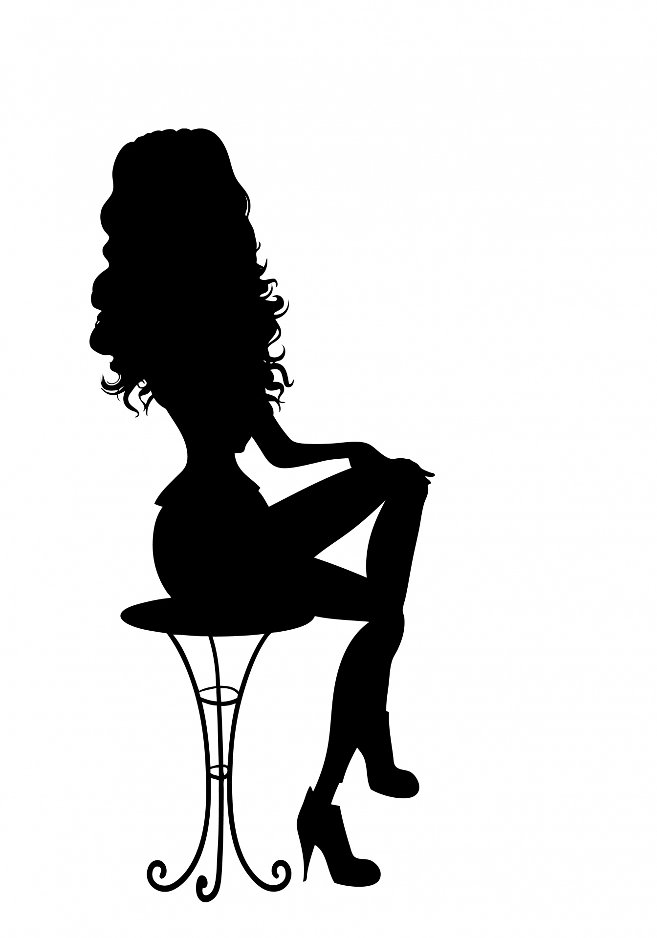 Pin Up Girl Silhouette Free Stock Photo Public Domain