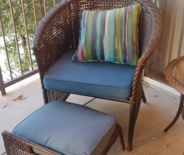 Blue Patio Chair