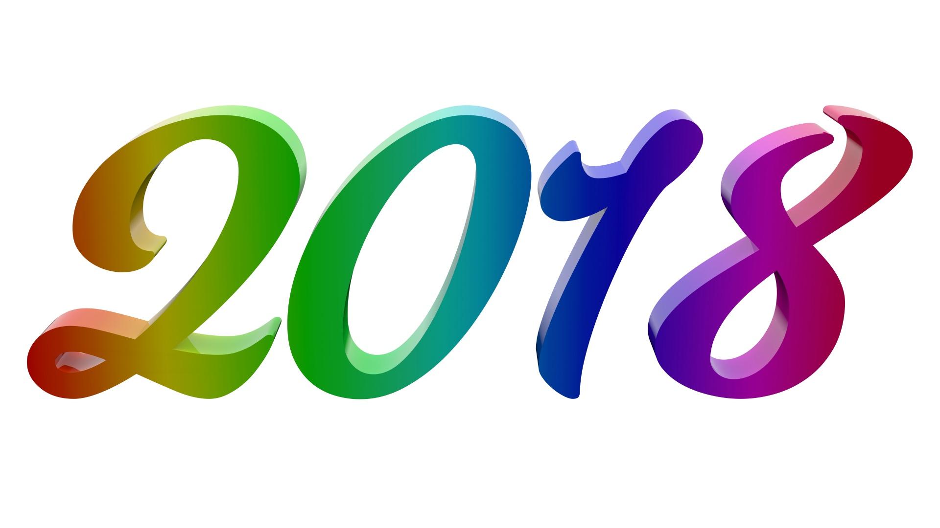 New Year Number Illustration Free Stock Photo