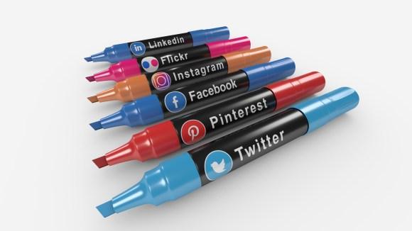 Marcadores de iconos de medios sociales Stock de Foto gratis ...