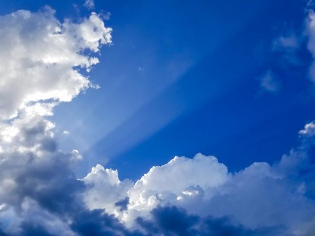 Sun Rays Through Clouds Free Stock Photo Public Domain