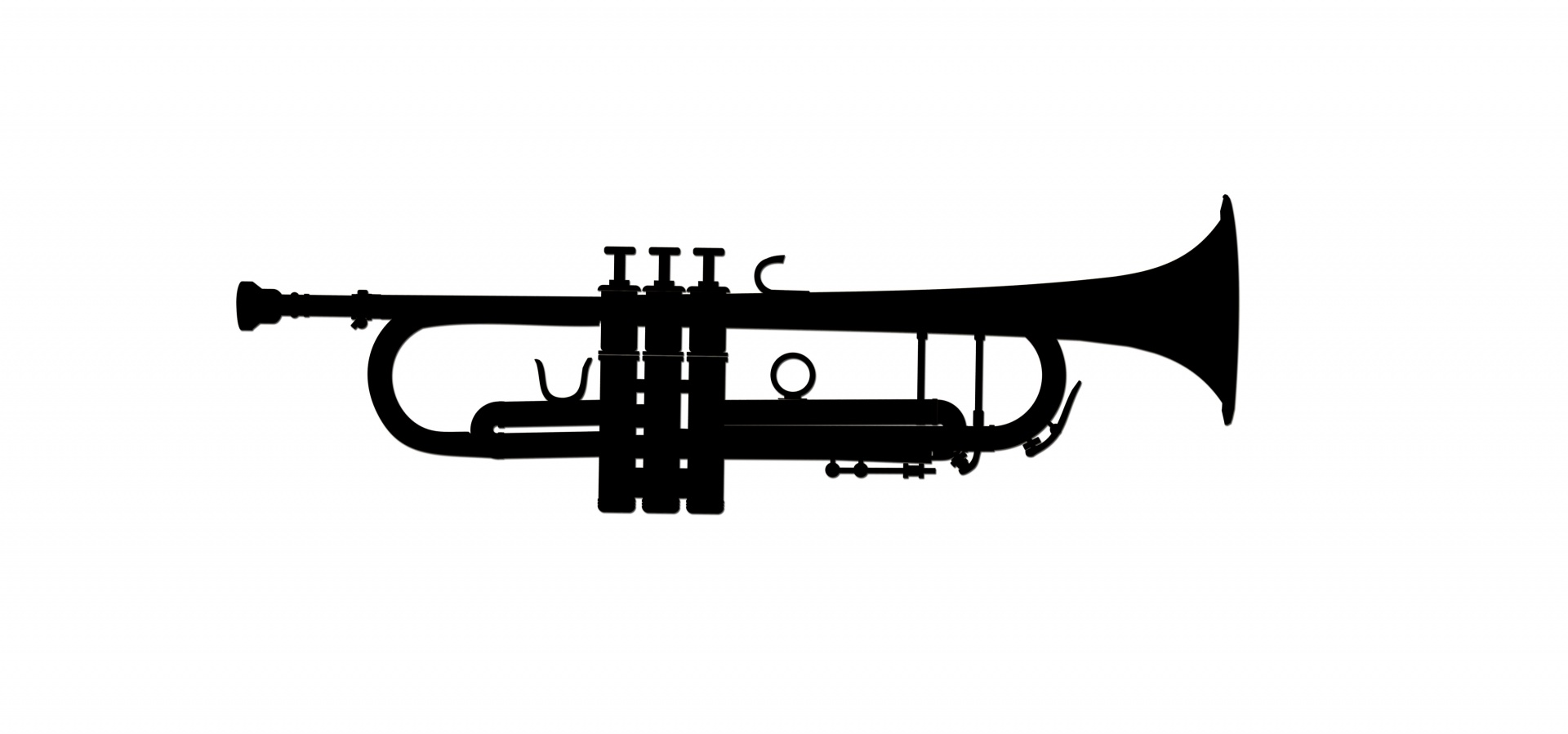 Trumpet Clipart Silhouette Free Stock Photo