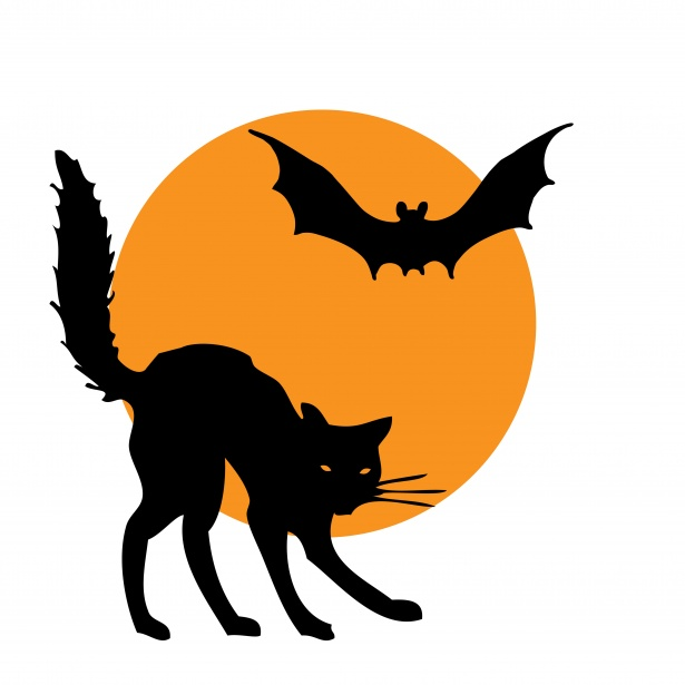 Halloween black and white retro halloween clip art black cat with moon the graphics fairy, right click on this halloween clipart black and white and save … Halloween Clipart Cat Bat Free Stock Photo Public Domain Pictures