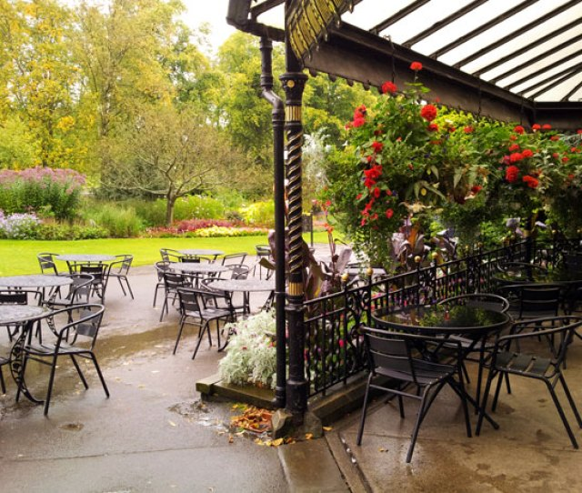 Outside Cafe In Park