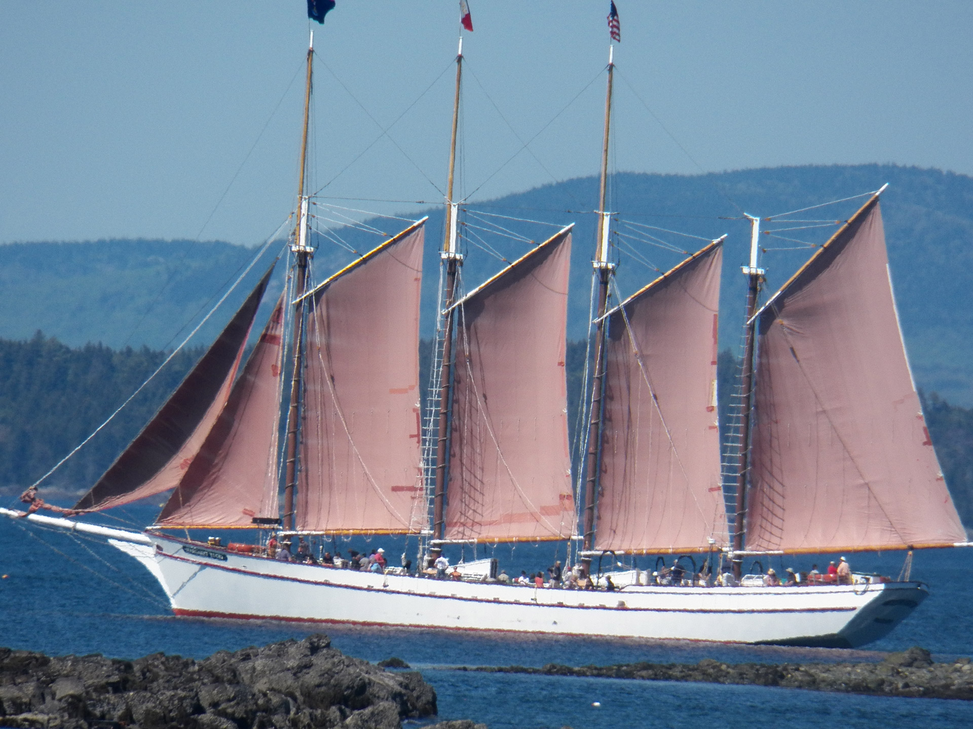 sailboat, sailing, schooner