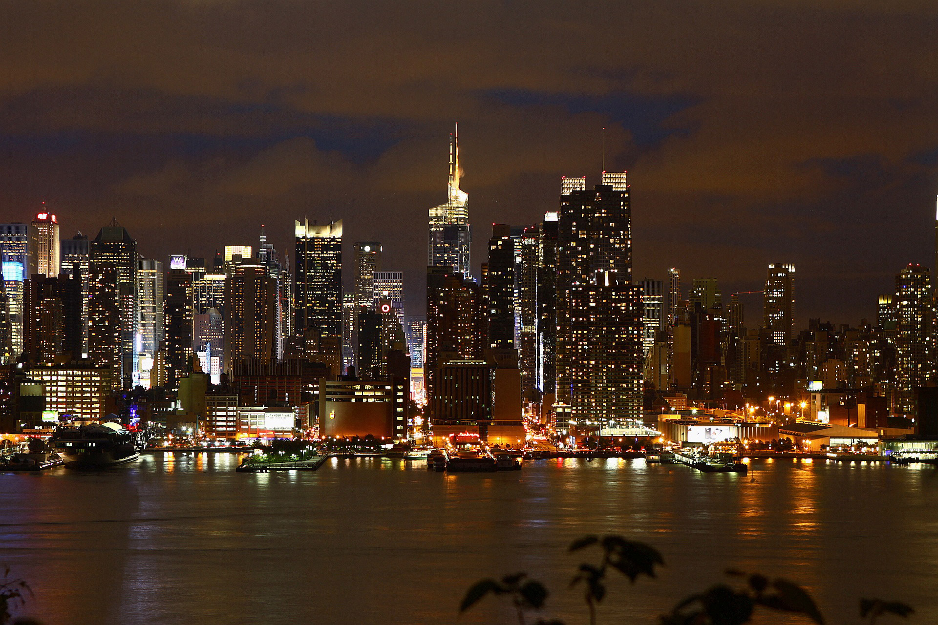 New York, City Lights, Night Reflections