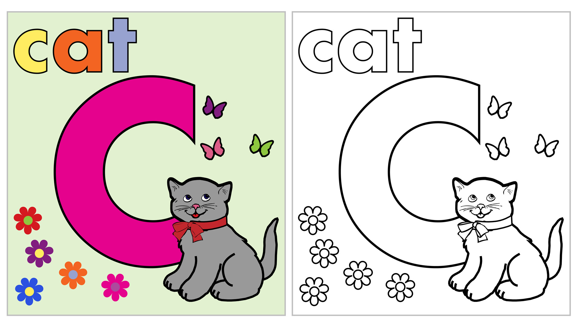 C For Cat Worksheet Printable