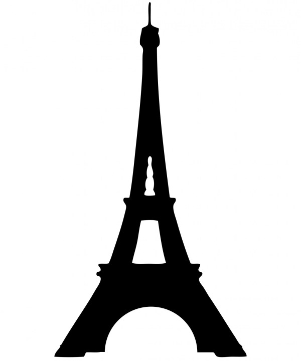 Eiffel Tower Silhouette Clipart Free Stock Photo - Public ...