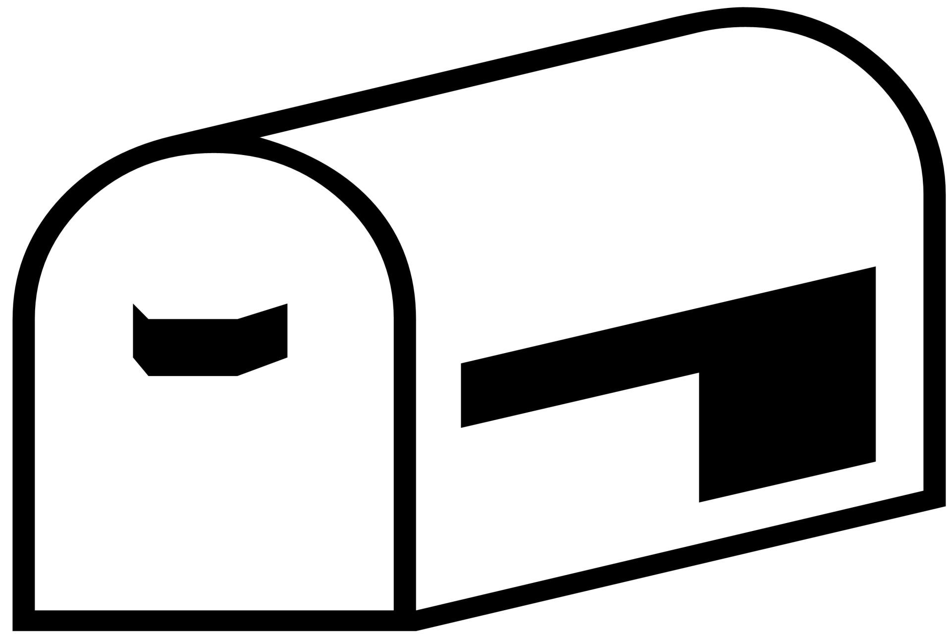 Mailbox Silhouette Free Stock Photo