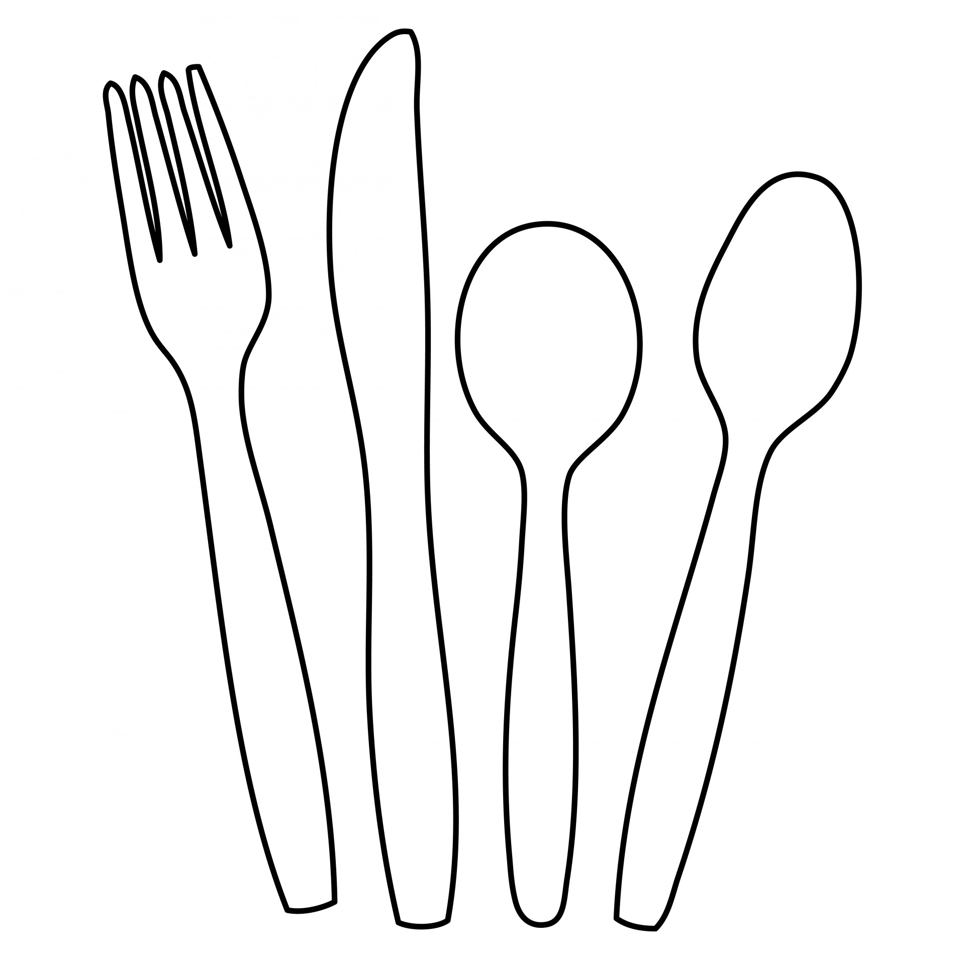 Cutlery Outline Clipart Free Stock Photo