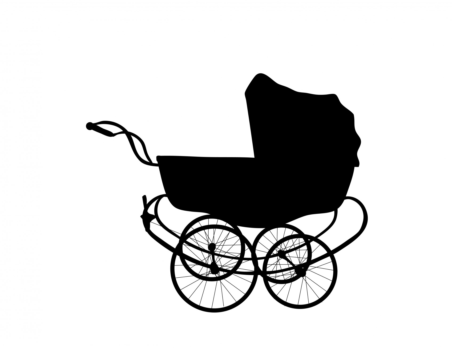 Vintage Baby Carriage Free Stock Photo