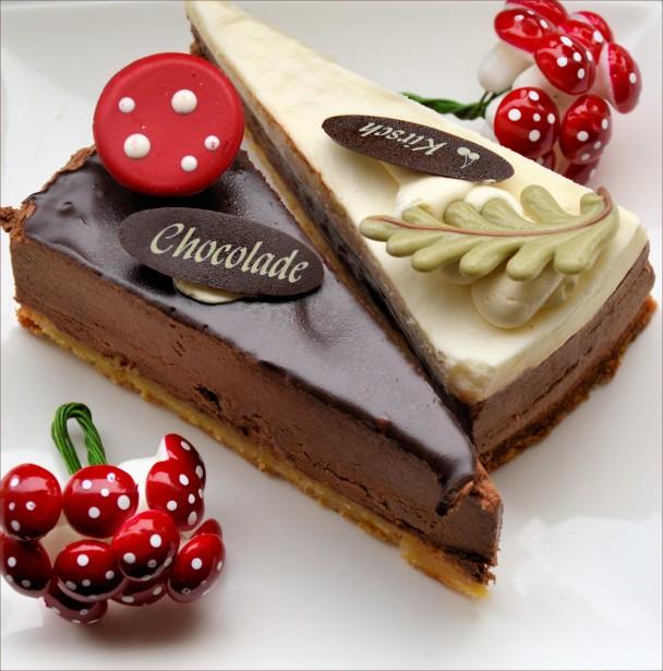 Cherry And Chocolate X Mas Cake Free Stock Photo Public
