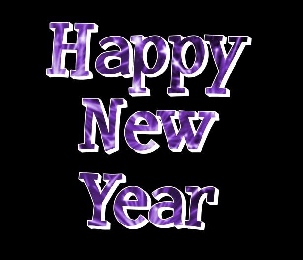 purple happy new year