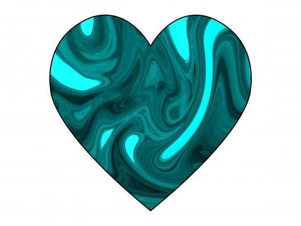 Turquoise Swirl Heart 2 Free Stock Photo Public Domain