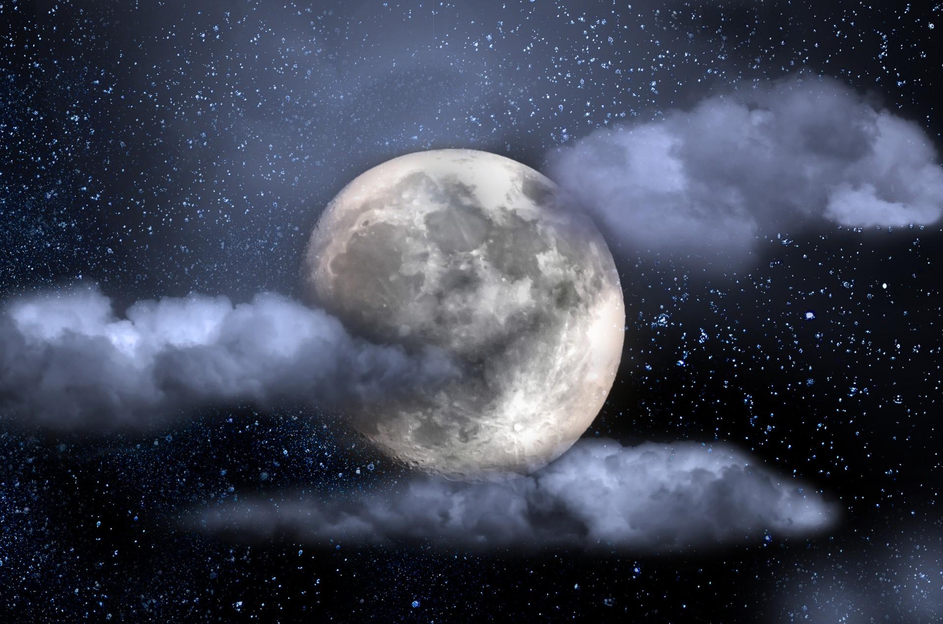 Sky, Universe, Moon