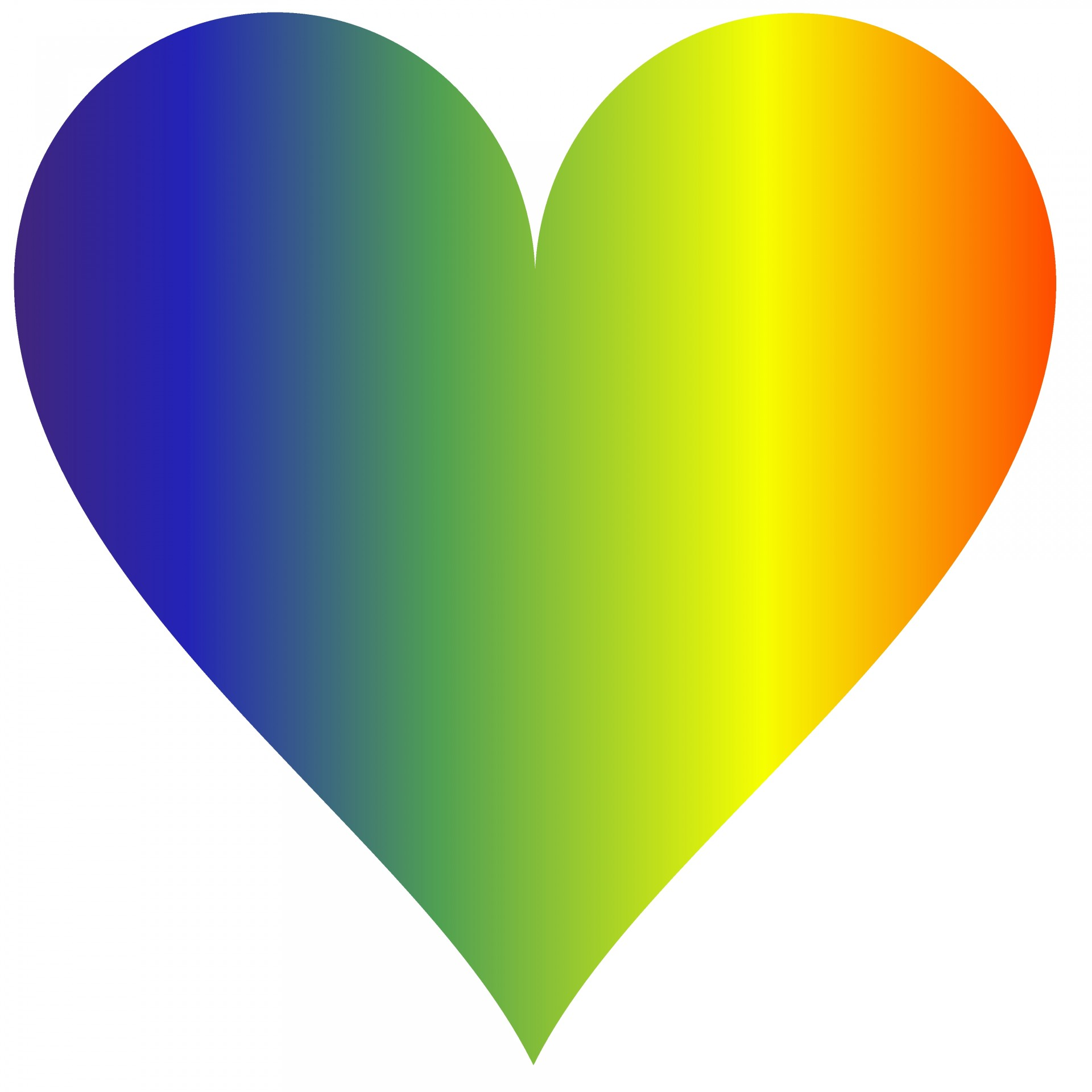 Rainbow Heart 3 Free Stock Photo Public Domain Pictures