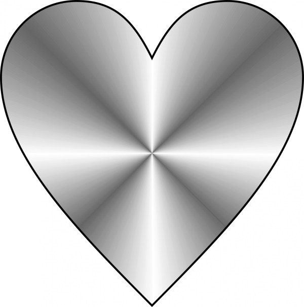 Silver Heart Free Stock Photo Public Domain Pictures