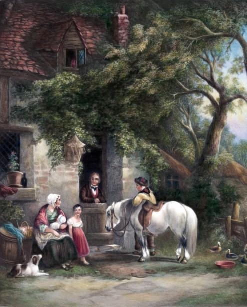 Country Farm Scene Painting Free Stock Photo Public