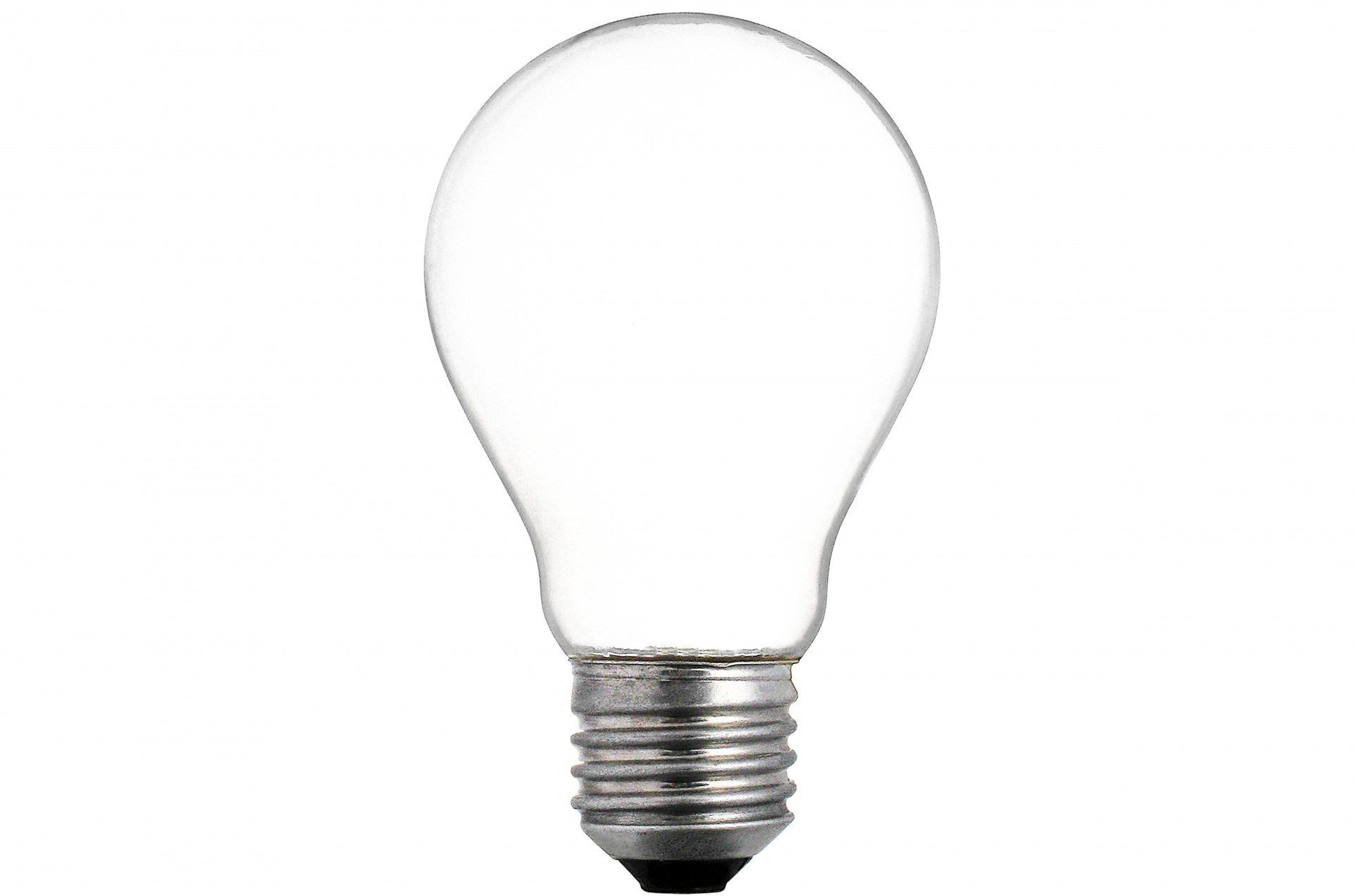 Empty Electric Light Bulb Free Stock Photo
