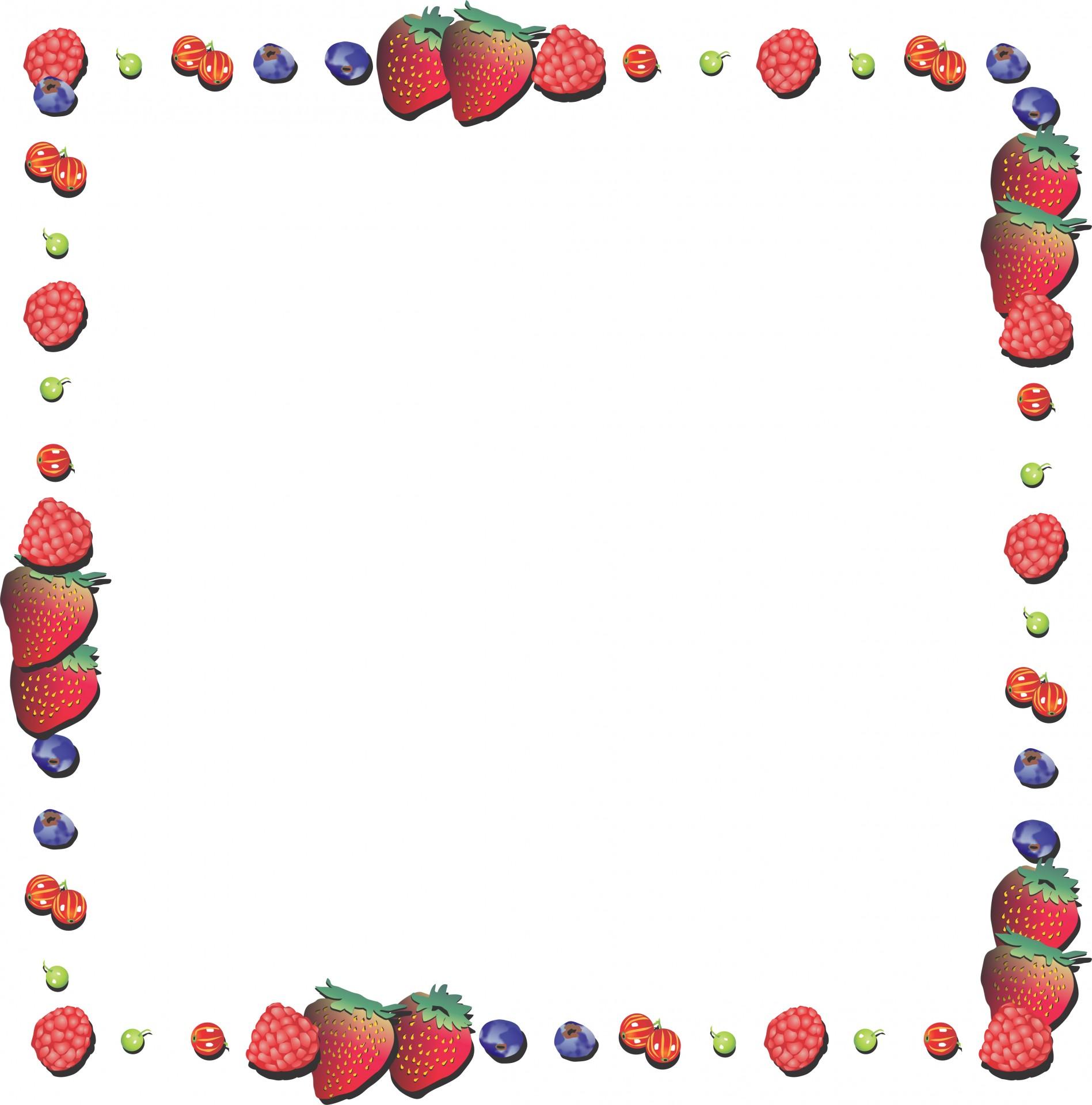 Strawberry Frame Free Stock Photo